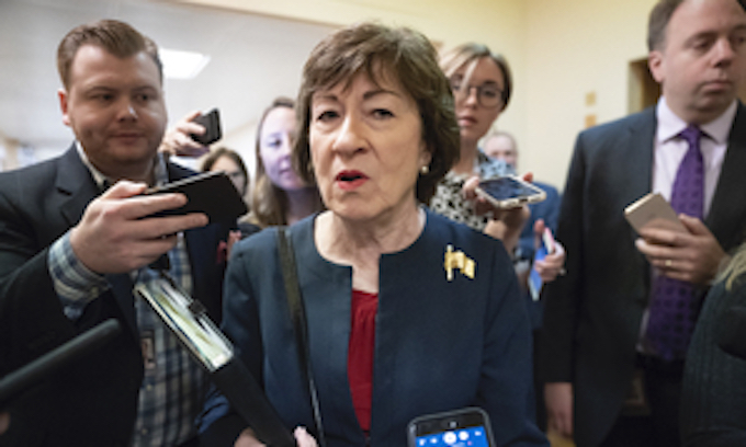 Susan Collins a target for Democrats with impeachment vote