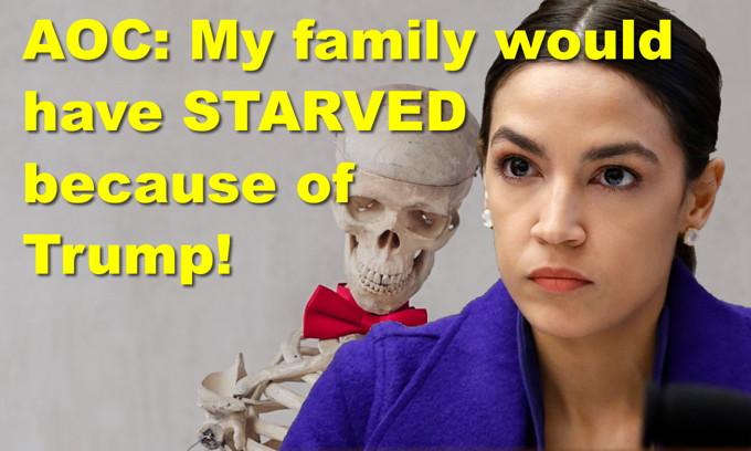 AOC: My family would have starved under Trump's plan! Joe Biden calls man a 'damn liar'