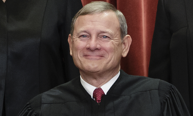 Chief Justice John Roberts hospitalized last month after fall
