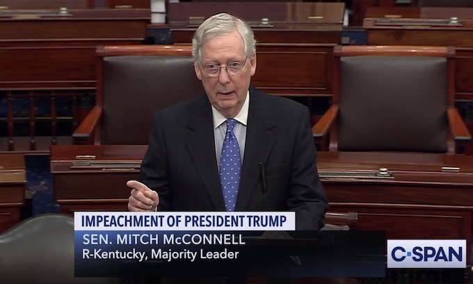 McConnell promises to 'put this right' as Pelosi tries to control Senate process