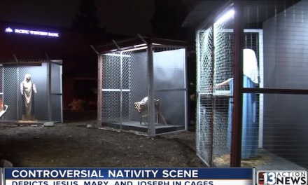 Claremont United Methodist Church Nativity scene attacks border security measures