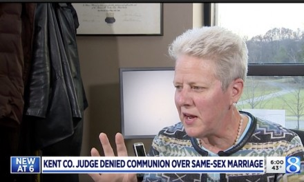 Lesbian  judge in Michigan says she was denied communion by Catholic church over her marriage