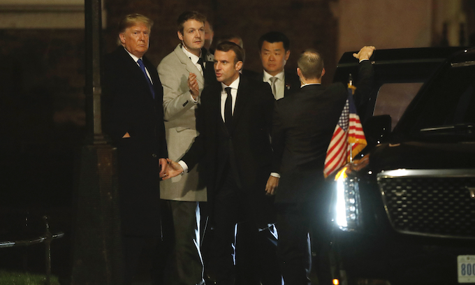 Trump scolds Emmanuel Macron for 'nasty statement' on NATO