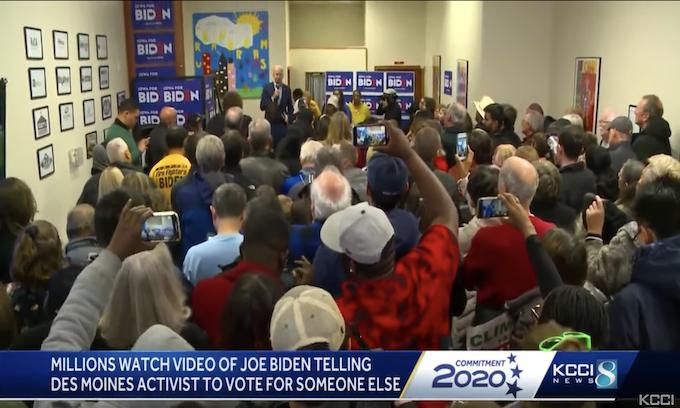 Biden pokes, prods voter then says, 'Go vote for someone else'