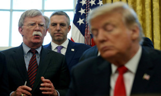 Justice Dept. sues to block release of John Bolton's book