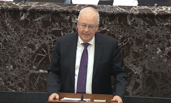 Ken Starr argues for Trump on Monday