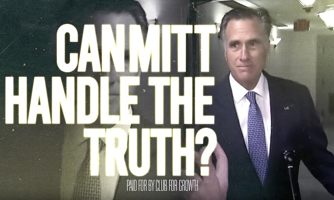 Romney exposed for siding with Democrats in new TV ad