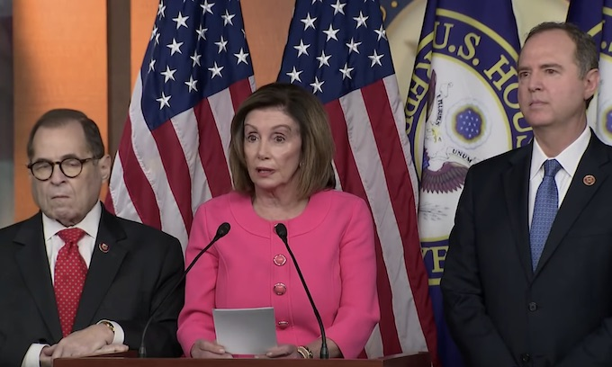 Pelosi names impeachment trial managers ahead of key House vote