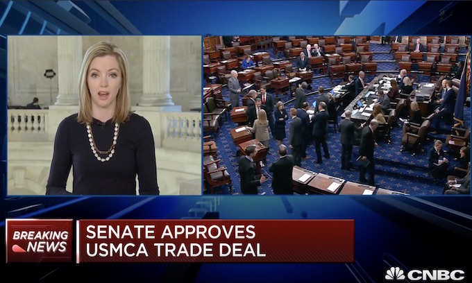 North American trade vote in Senate hands Trump second huge victory this week