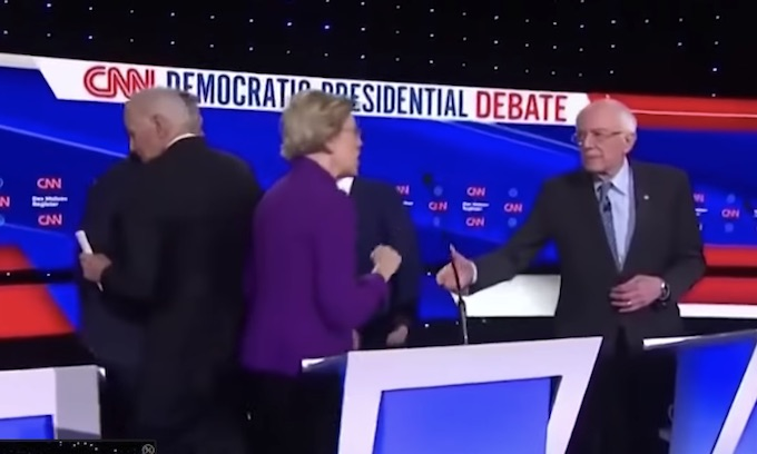 Warren brands male rivals losers, refuses handshake as Sanders spat spills into Democrat debate