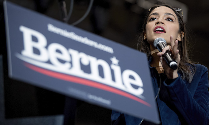 AOC pays tribute to Bernie Sanders for 'true devotion to a people's movement'
