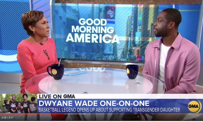 Virtue Signaling Dwayne Wade still making the TV rounds bragging about transgender child