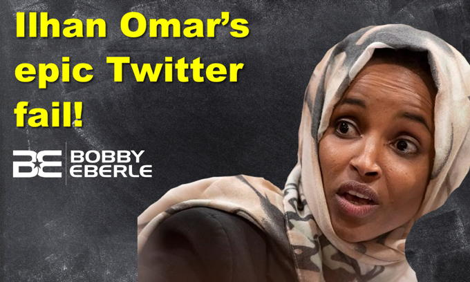 Ilhan Omar's epic twitter fail! Is CNN watching? President Trump scores with Super Bowl ad
