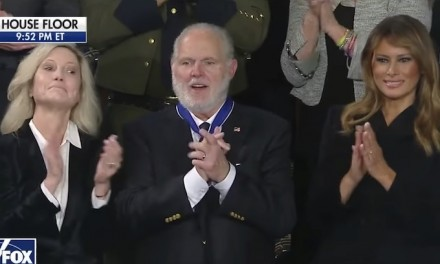 Rush Limbaugh receives Presidential Medal of Freedom at SOTU