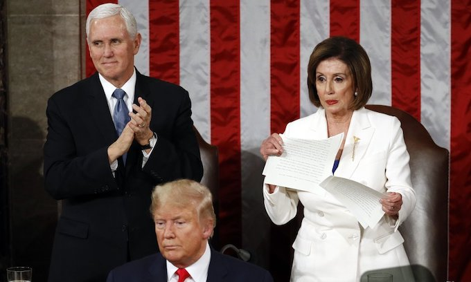 GOP asks AG to see if Pelosi's speech tearing was criminal