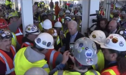 Democrat civility:  Biden loses it, tells factory worker 'you're full of s–t' when questioned about gun control