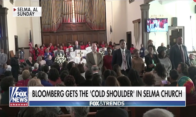 Black church snubs Bloomberg as congregants stand, turn their backs