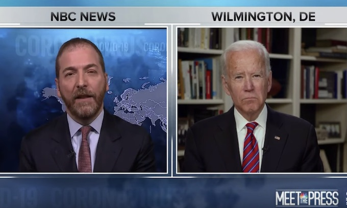 "NBC's Chuck Todd Asks Biden If President Trump has ""blood on his hands"""
