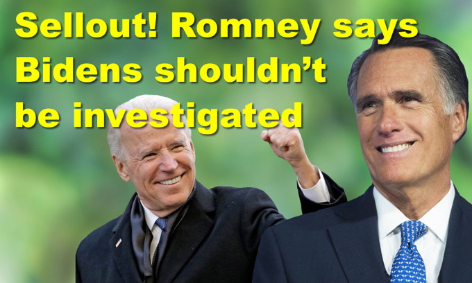 Sellout! Romney says Bidens shouldn't be investigated! AOC's stunning example of hypocrisy