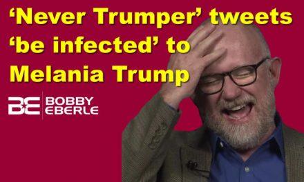'Never Trumper' tweets 'be infected' to Melania Trump; Media focus on 'China virus' phrase