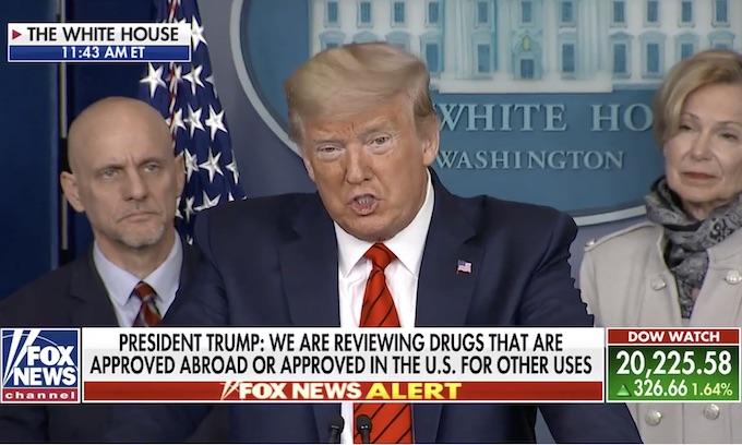 Trump announces FDA making anti-malaria drug available 'almost immediately' to tackle coronavirus