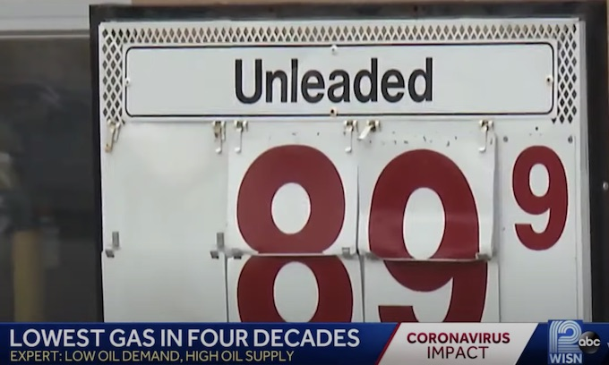 U.S. gas prices way down from last April; under $1 per gallon in Midwest