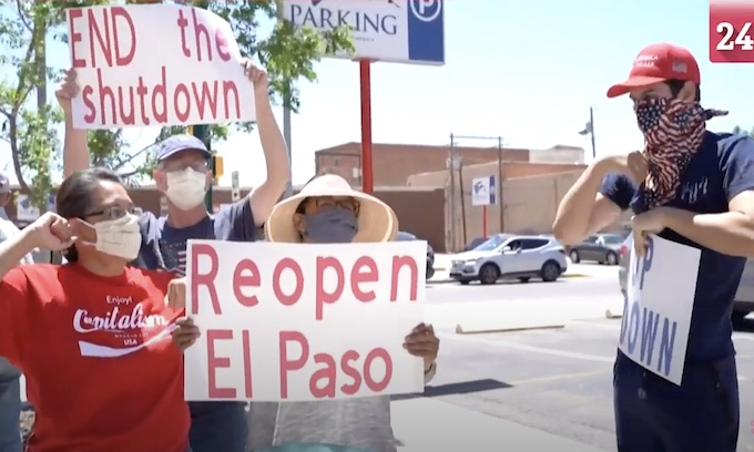 Organizer of El Paso Reopen Texas rally cited for violating city's stay home order