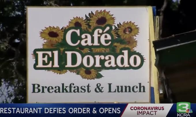 El Dorado Cafe reopened despite coronavirus limits — and a record crowd showed up