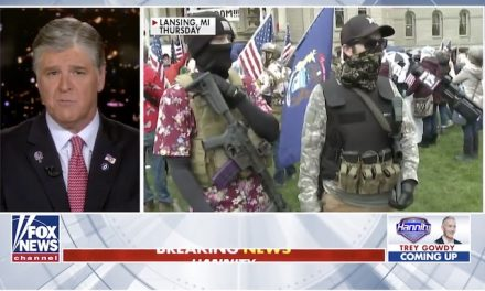 Sean Hannity's message to armed Michigan protesters: 'Show of force is dangerous'