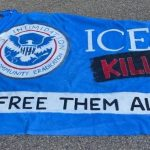 Criminals deface ICE flag, demand release of illegals