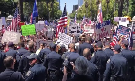 California Rebels: Protesters face off with cops at capitol as they demand freedom