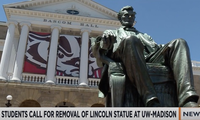 Students call for removal of Lincoln statue