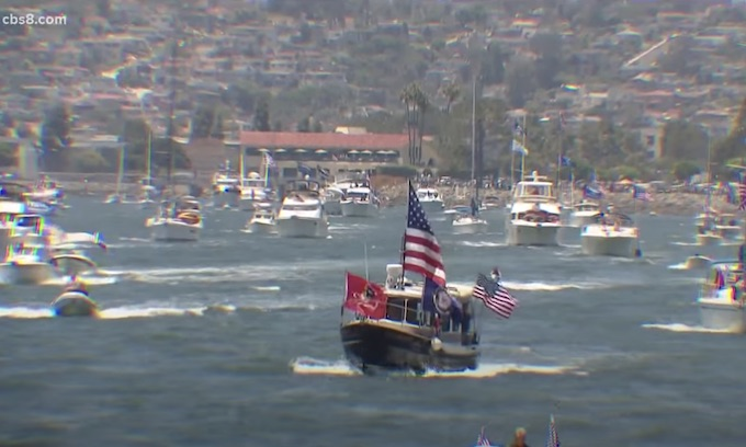 Huge San Diego Bay boat parade shows support for President Trump