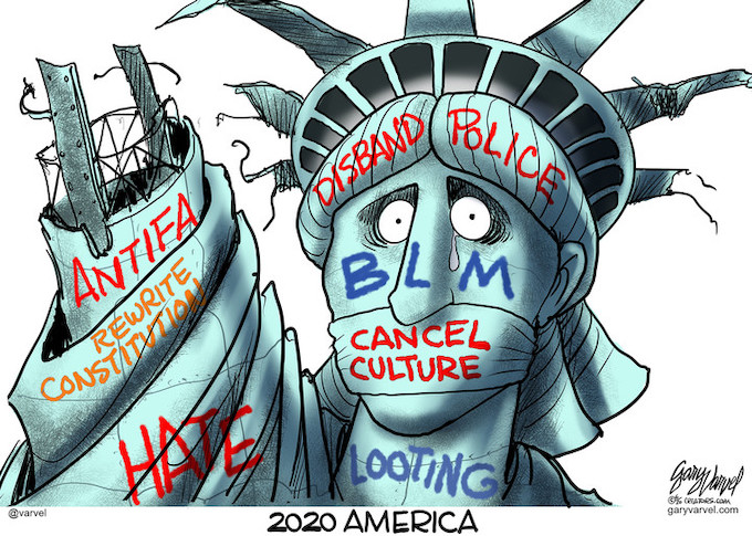 Lady Liberty After Riots
