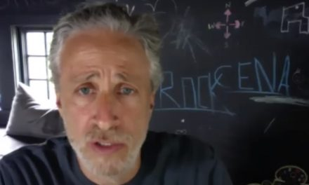 Jon Stewart tells 'mouth-breathing anti-maskers' to insist their doctors don't wear one either