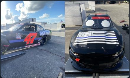 NASCAR team shows support for police with 'Back the Blue' car
