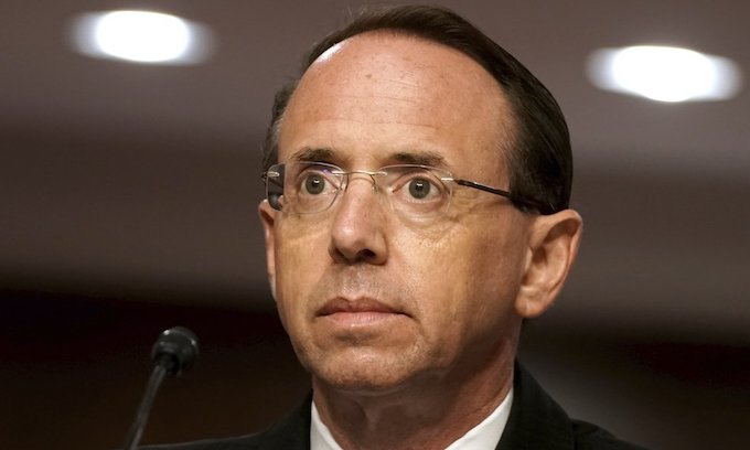 Former Deputy AG Rosenstein blames FBI for Russia inquiry
