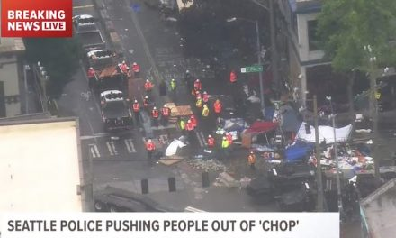 Finally! Seattle police clearing CHOP Zone