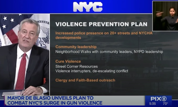 NYC mayor relying on 'violence interrupters' to stop crime spike