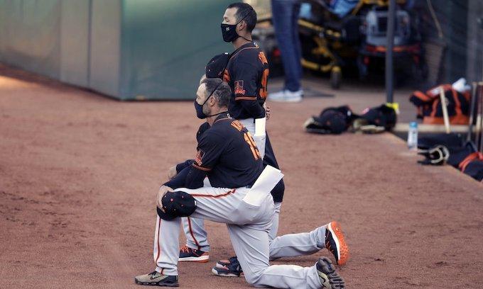 National anthem protest: Gabe Kapler, Mike Yastrzemski among San Francisco Giants taking a knee