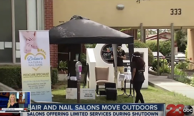 'This is not a solution.' Sacramento nail salon owners rebel against operating outdoors