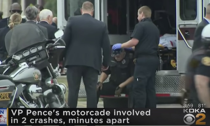 Mike Pence tends to 2 injured Pa. cops after his motorcade is hit by two accidents