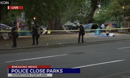Portland police clear parks across from federal courthouse as part of agreement with the feds