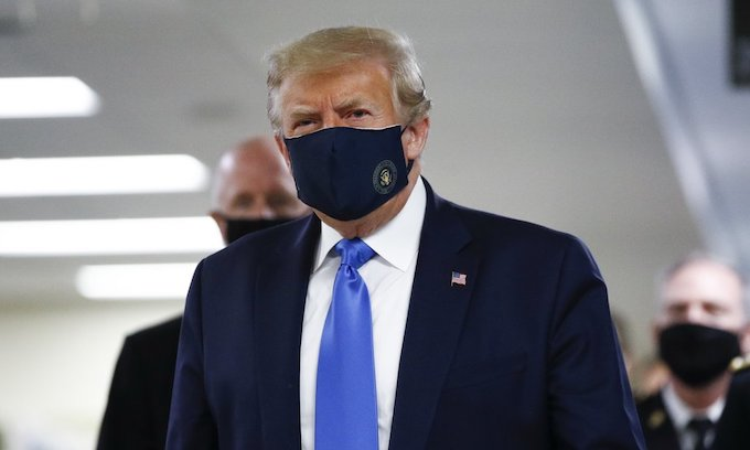 Trump Wears Face Mask While Visiting Walter Reed Hospital