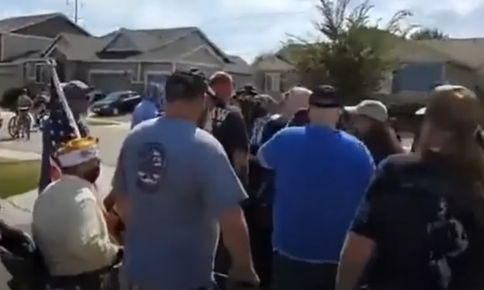 Antifa threatens Back the Blue rally in CO; gets run out of neighborhood