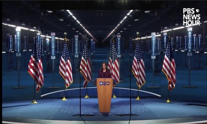 Harris accepts VP nomination; Barack, Hillary speak