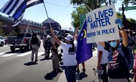 BLM protesters met with jeers by armed crowd of counter protesters in Nevada city