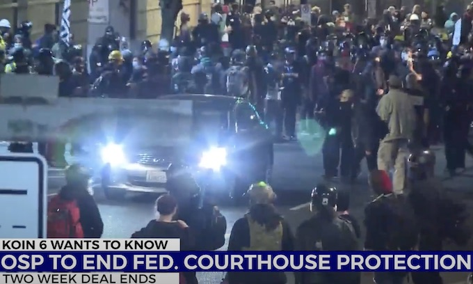 Portland: Oregon state police pull out of county 'that's not going to prosecute this criminal behavior'