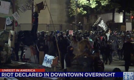 Portland rioters re-emerge near US courthouse