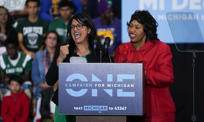 Rashida Tlaib claims win in 2020 Michigan primary against Brenda Jones